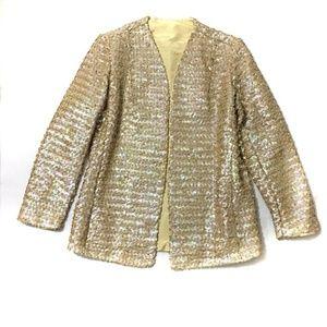 Vintage SZ 12 Gold Sequined Jacket